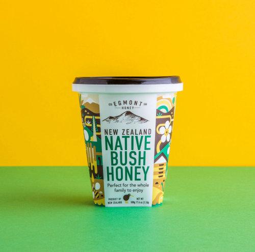 Egmont honey packaging design