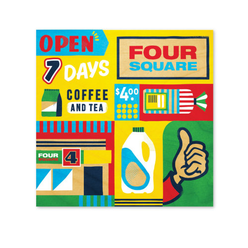 Advertising brochure of Four Square supermarket