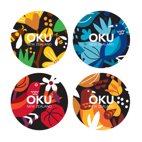 Labels design for Kawakawa organic tea
