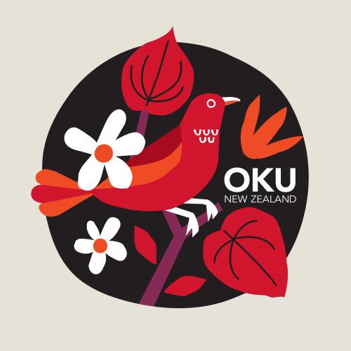 Tea label design for Oku NZ