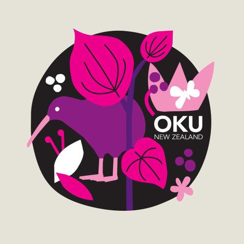 New Zealand Native herb blended tea label for Oku NZ