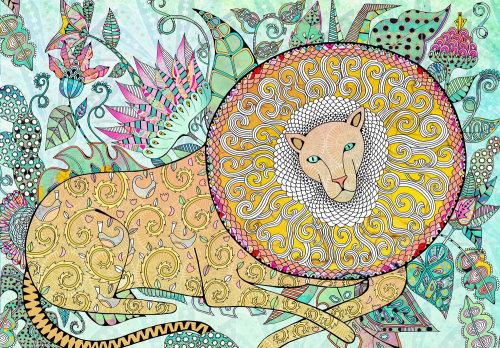Animaux décoratifs Lion dans la nature