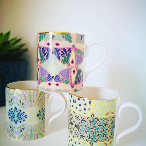 Tasses à café décoratives