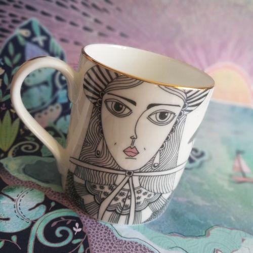 Decorative coffee cup