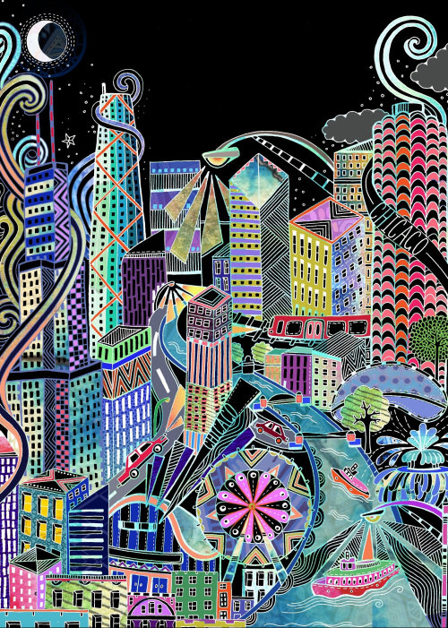 Illustration de la ville de mode