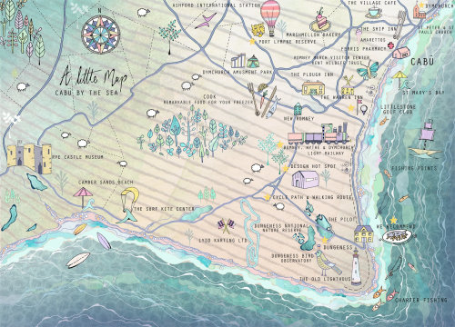 Maps Cabu by the sea