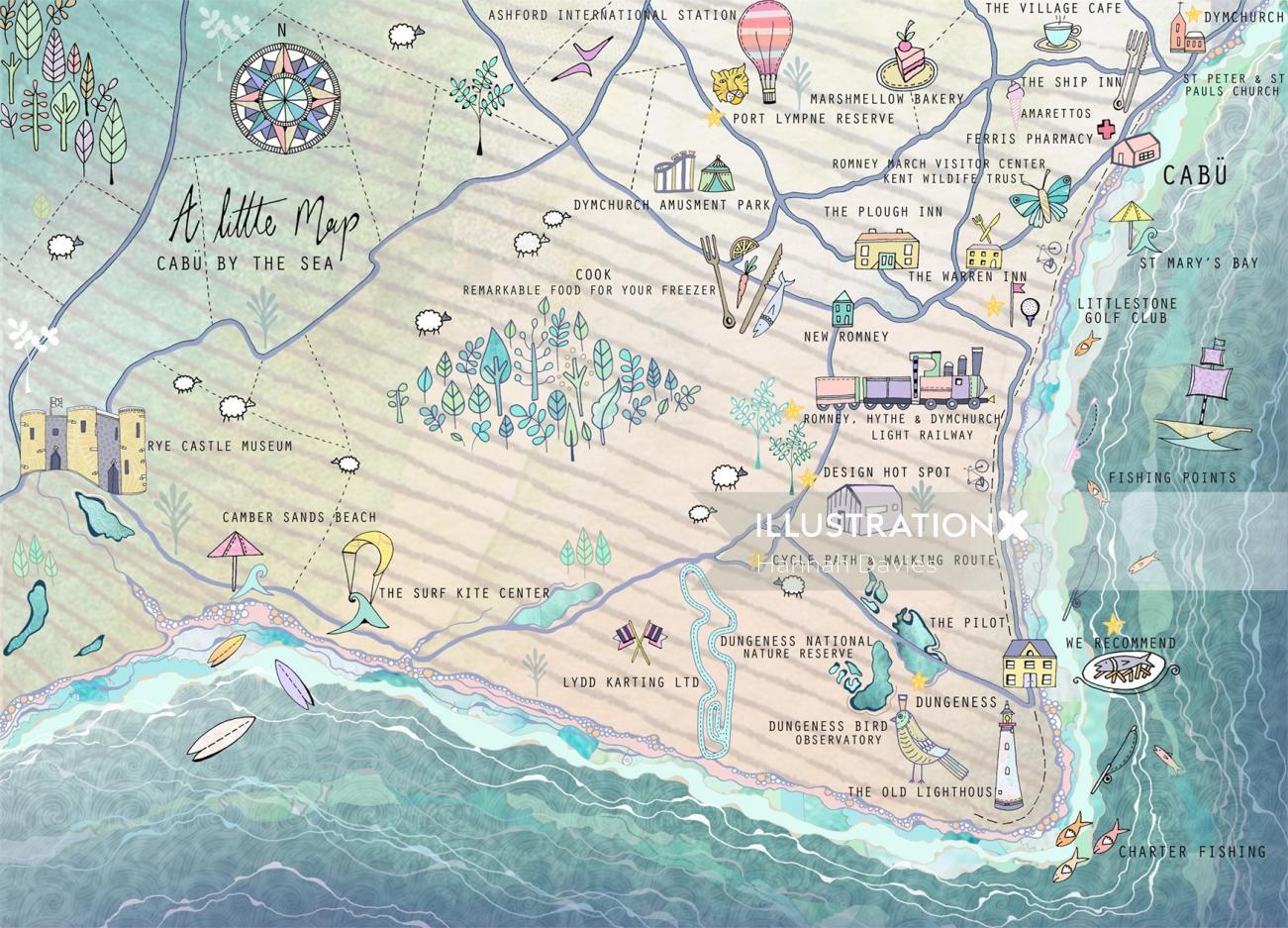 Maps Cabu by the sea