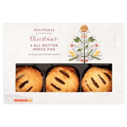 embalaje Waitrose Butter Mince Pies