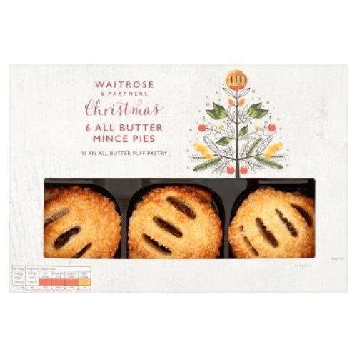 packaging Waitrose Butter Mince Pies
