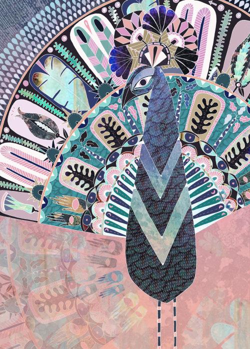 Animaux décoratifs de paon