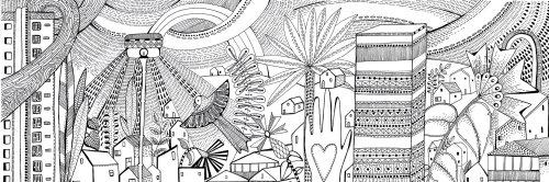 Design de ville noir et blanc