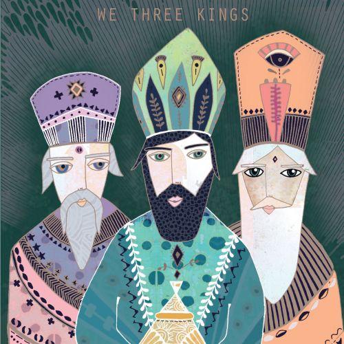 Acrylic illustration of magical three wise man