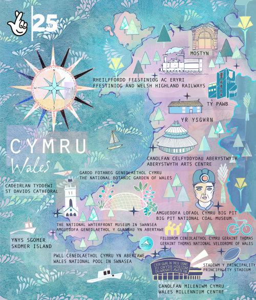 Cartes CYMRU Pays de Galles