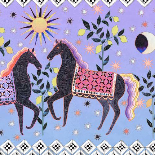 Decorative art of dancing horses
