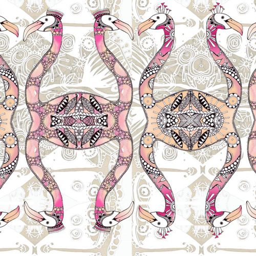 Flamingo illustration by Hannah Davies