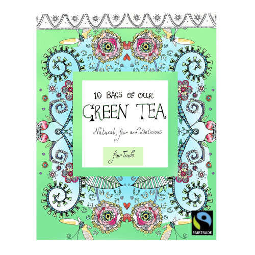 An illustration for green tea by Hannah Davies