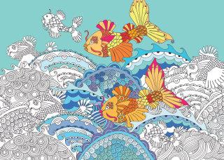 Gold fish illustration by Hannah Davies