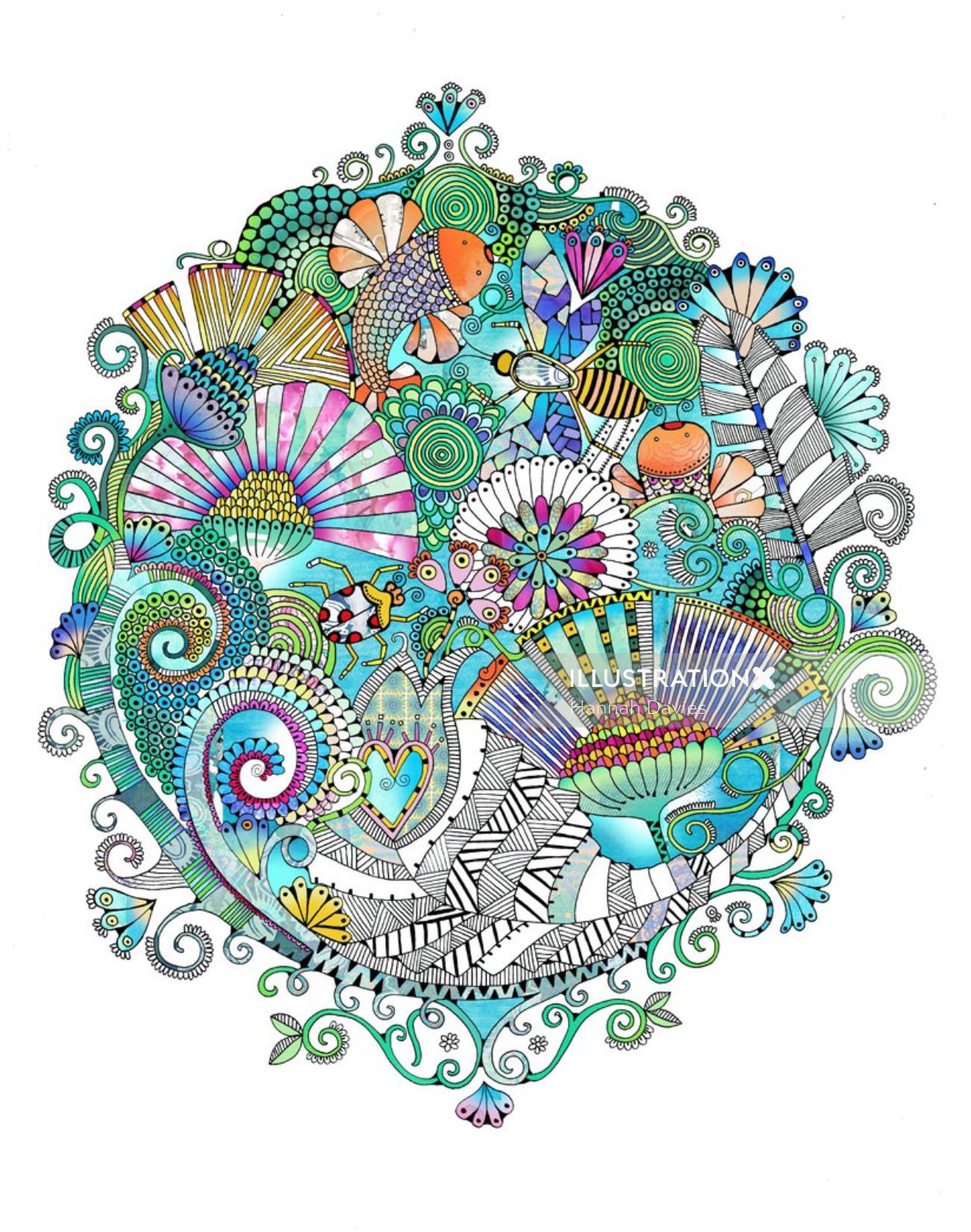 Decorative illustration by Hannah Davies