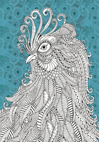 Cockerel illustration by Hannah Davies