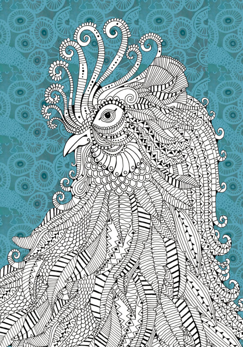 Cockerel illustration by Hannah Davies