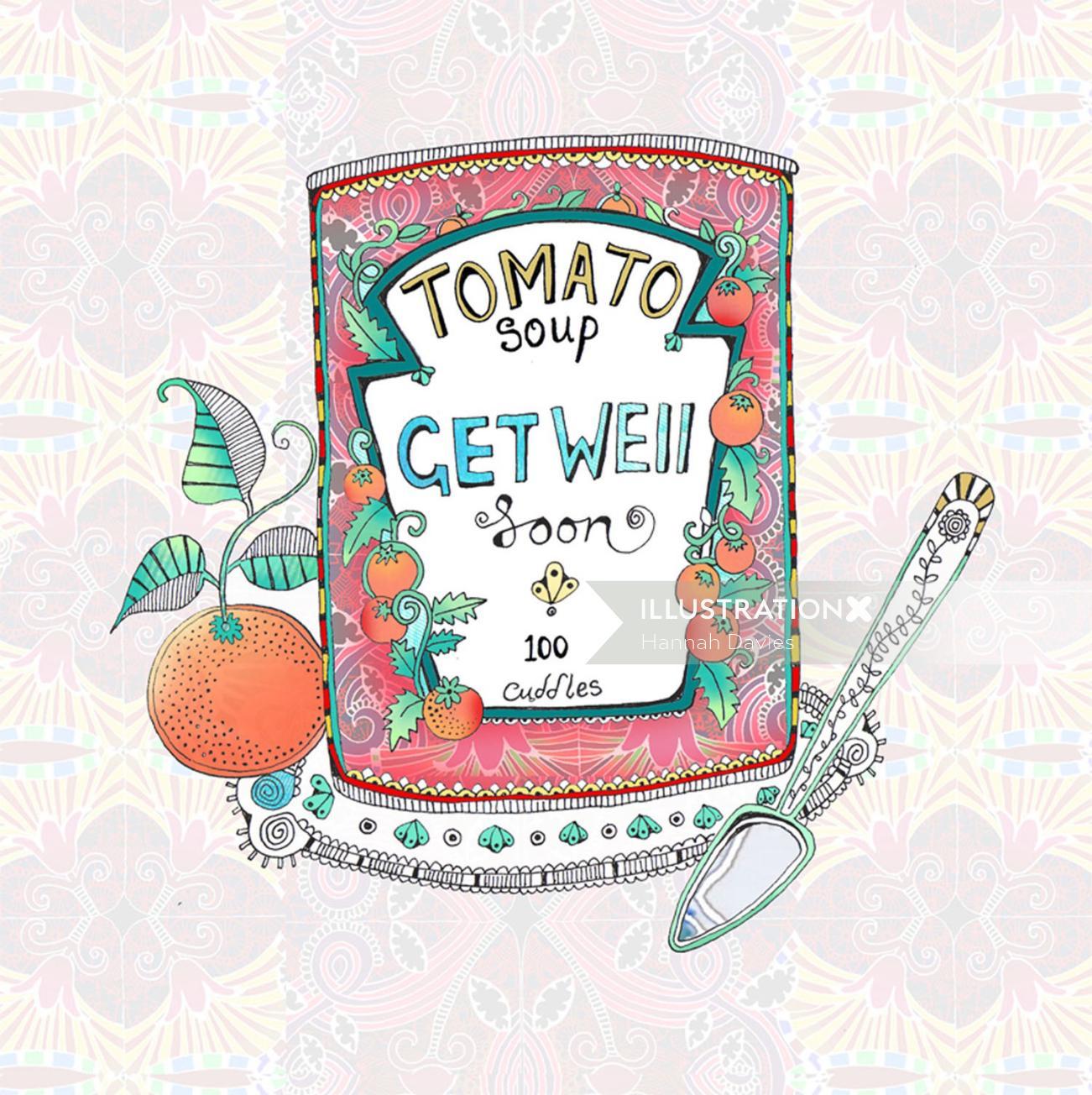 Tomato soup illustration by Hannah Davies