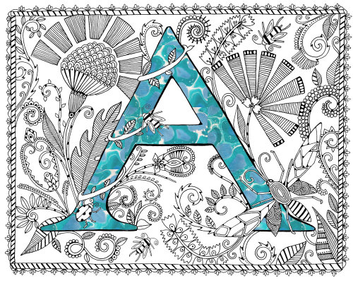 Letter A - Illustration by Hannah Davies