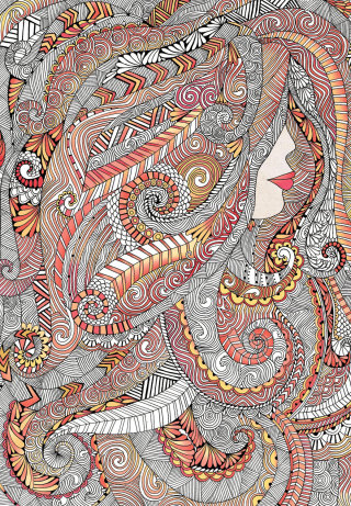 Hair and Beauty - An illustration by Hannah Davies