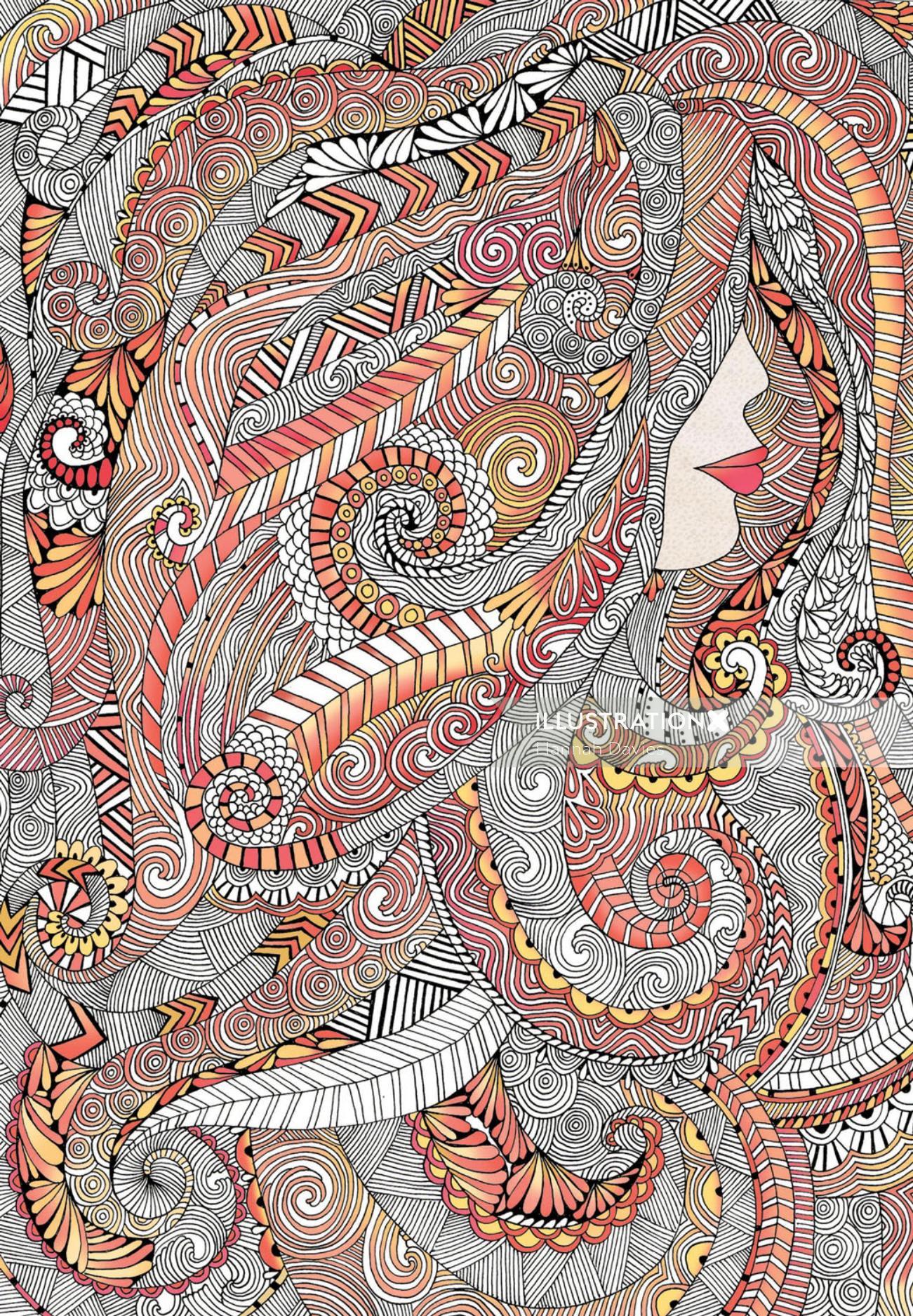 Hair and Beauty - An illustration by Hannah Davies
