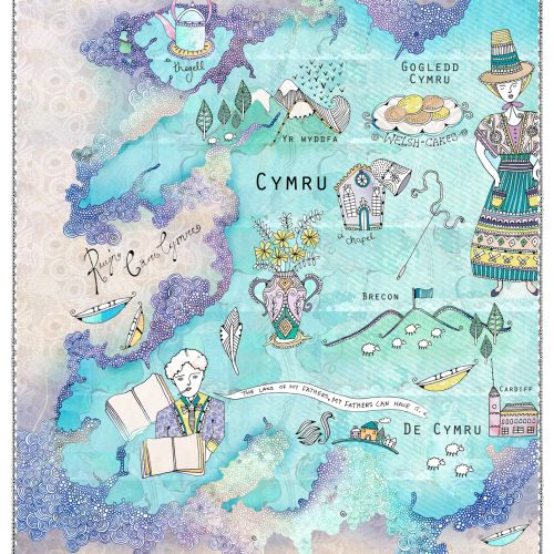 Welsh map illustration by Hannah Davies