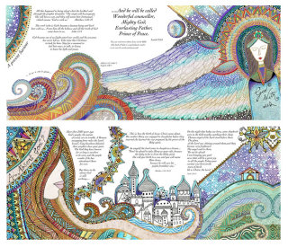 Illustration for Christmas cards by Hannah Davies