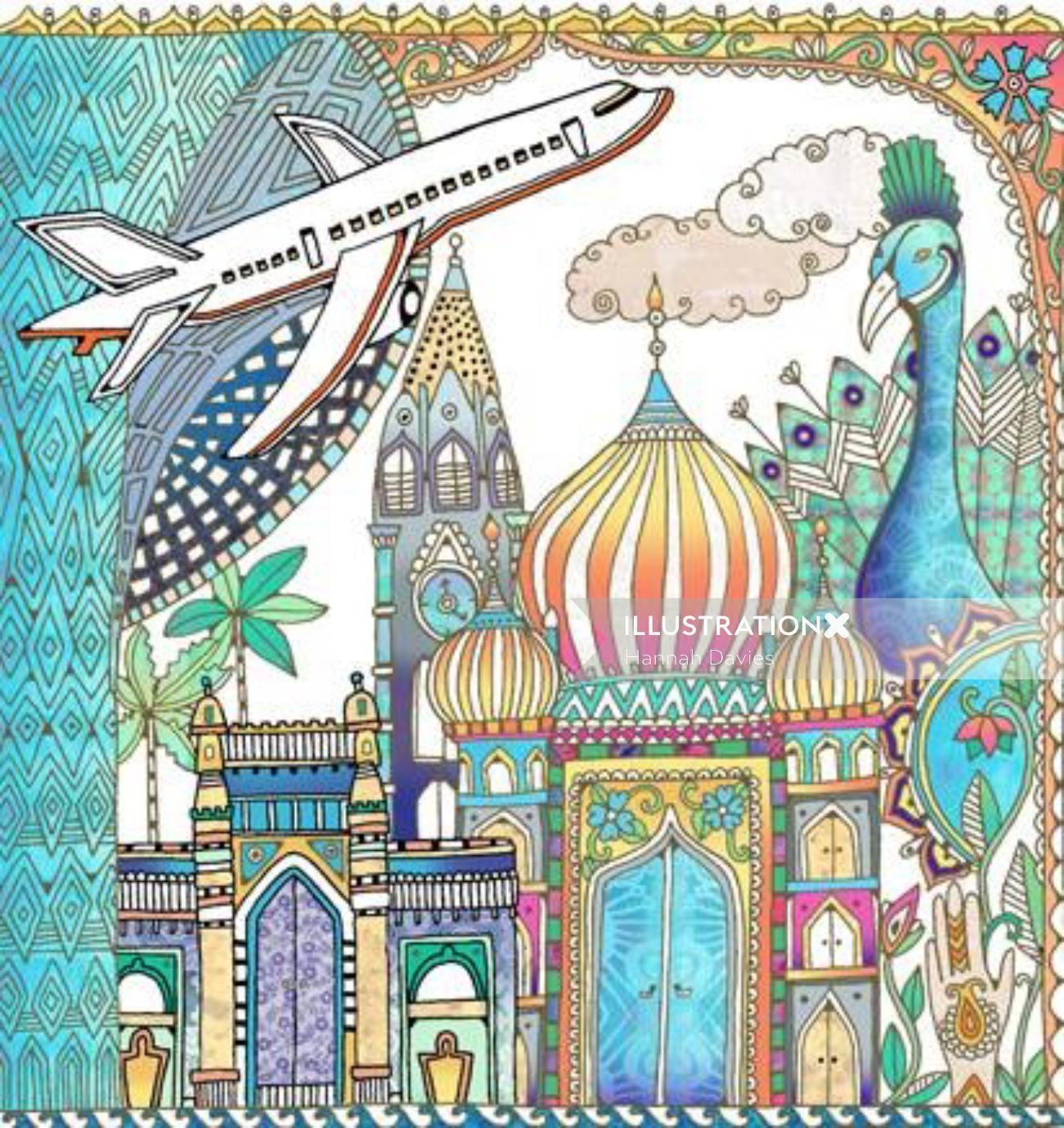 An illustration of mumbai city by Hannah Davies