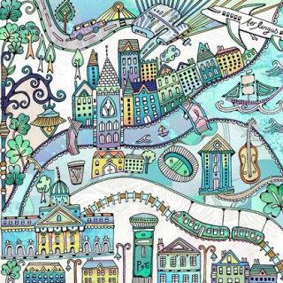 Dublin illustration by Hannah Davies