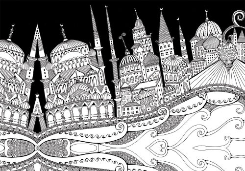 Conceptual illustration of Istanbul