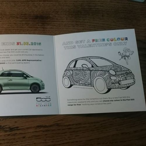 Graphic brochure of car