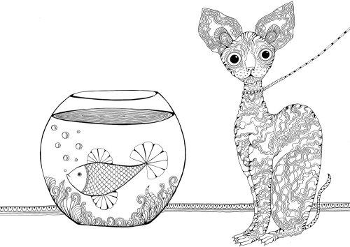 Decorative Dog and fish