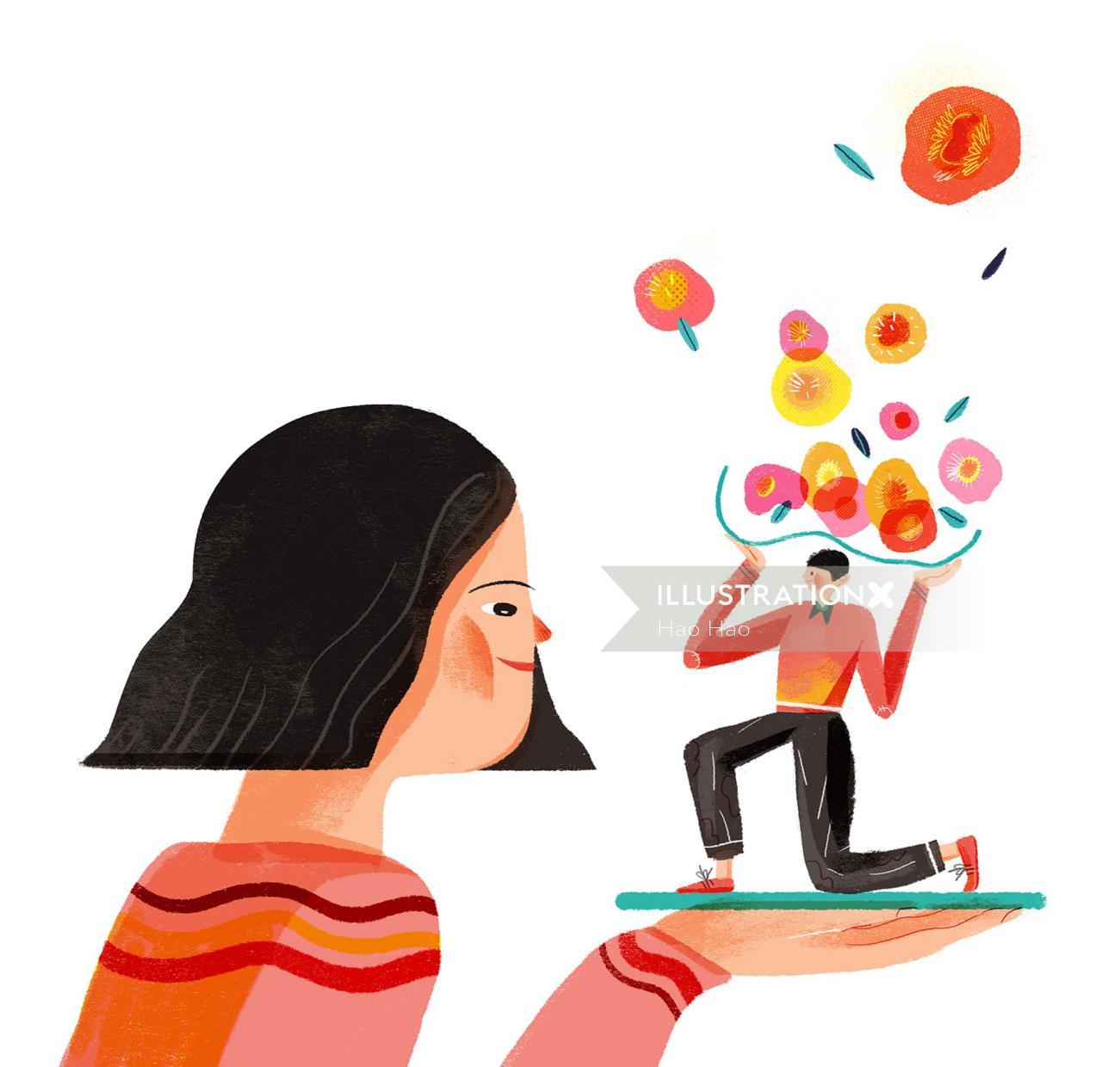 Contemporary illustration by Hao Hao