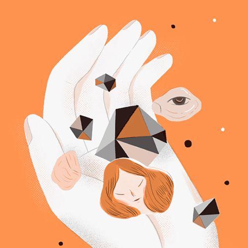 Contemporary art of hand