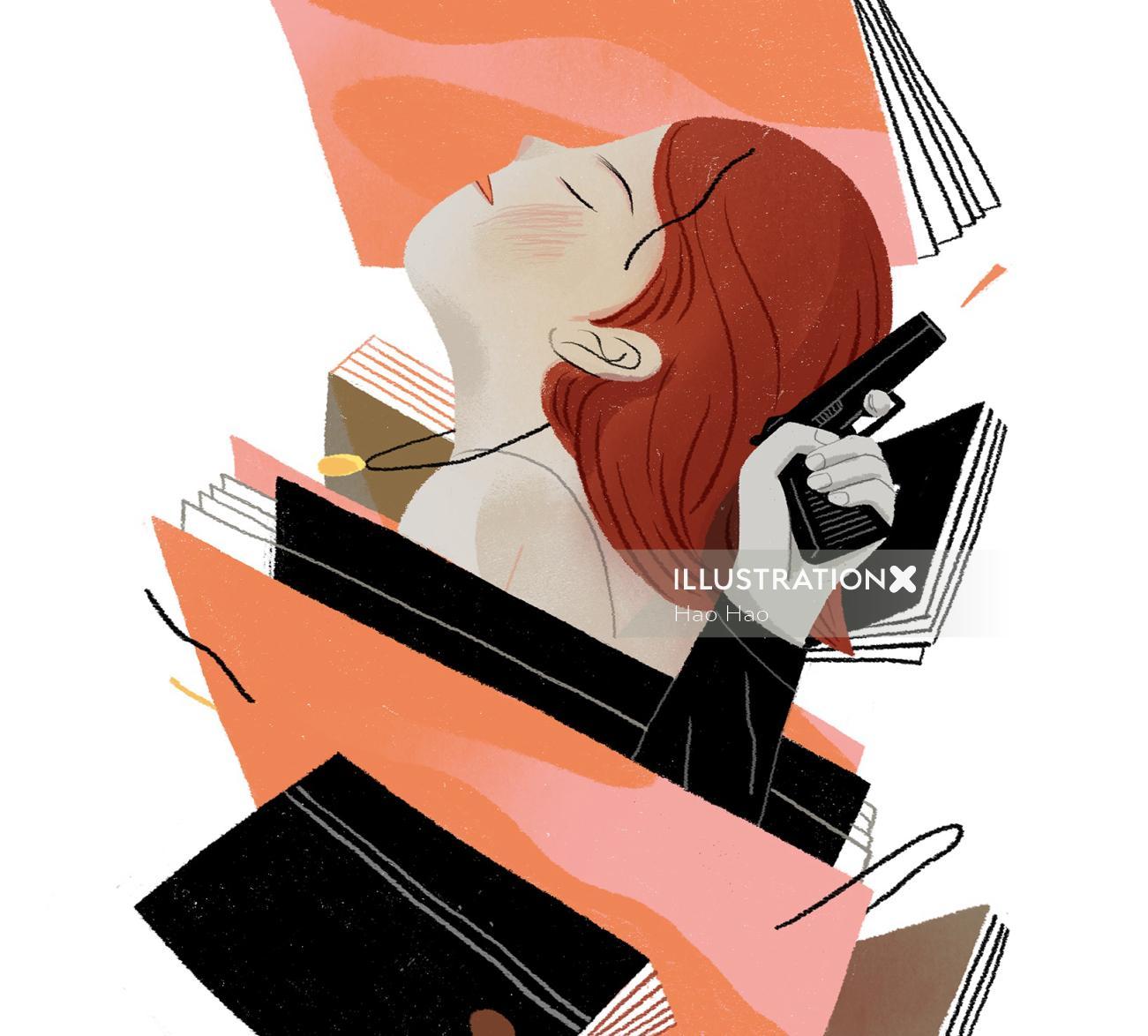 Graphic design of crime files