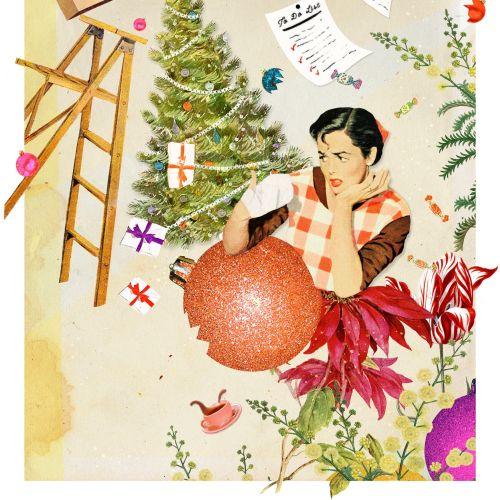Christmas decoration graphical artwork
