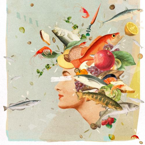 Healthy women illustration for women's health magazine