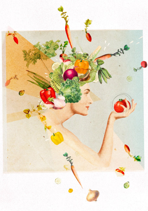 Healthy women illustration for women's health magazine
