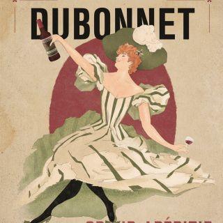 Cover design for Dubonnet wine