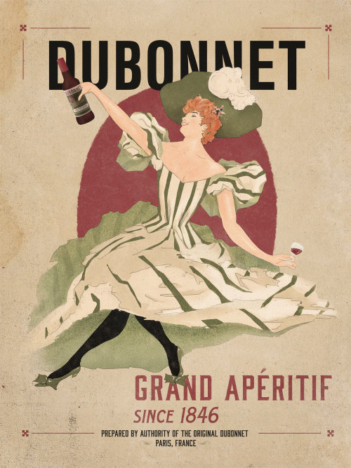 Cover design for Dubonnet wine
