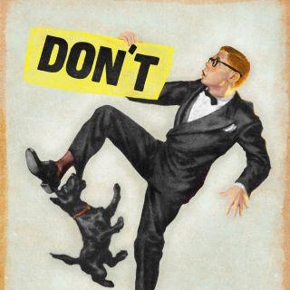 Don't step on dog lettering art