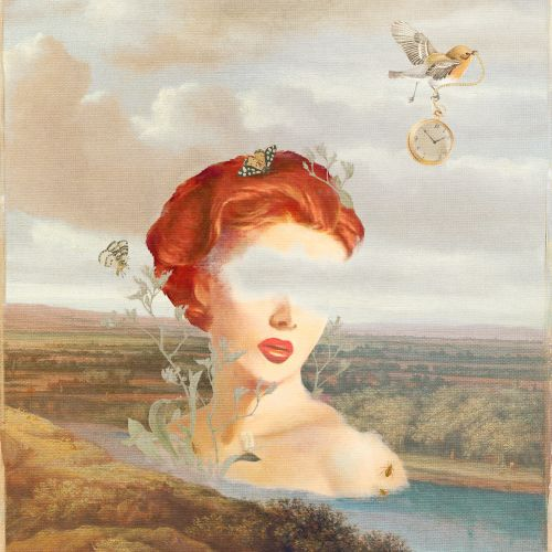 Heather Landis Vintage, illustrateur de collage. Etats-Unis