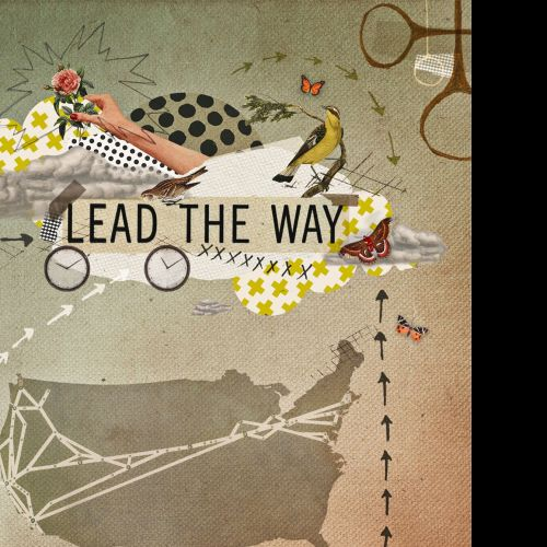 Book cover poster design for Lead the way