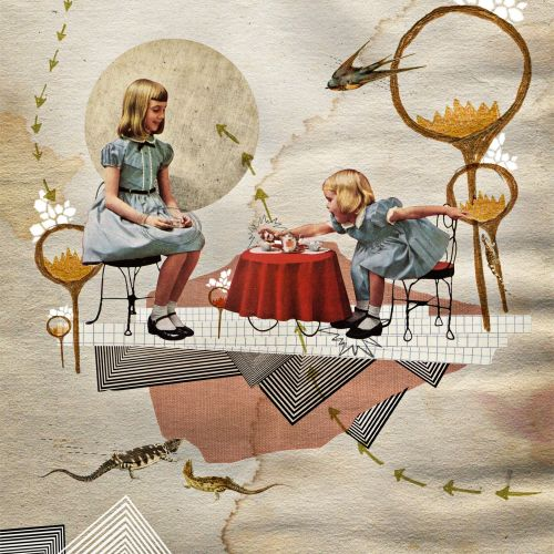 Girls playing illustration by Heather Landis