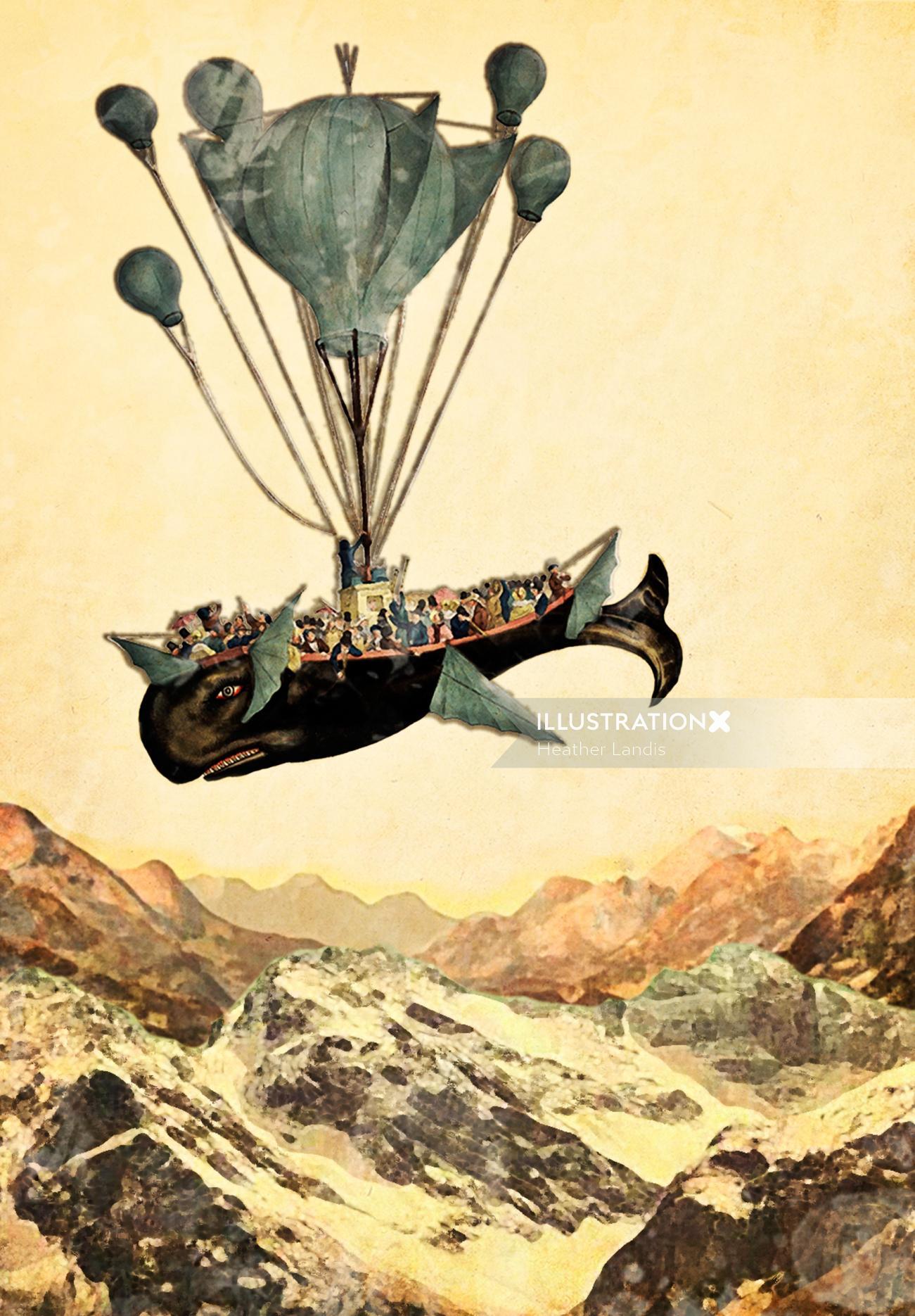 Conceptual Whale Flight