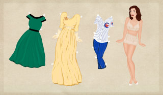 An illustration of women clothes