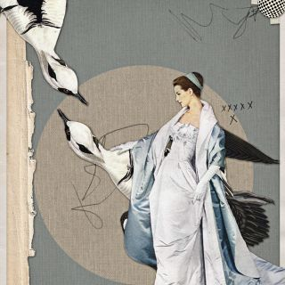 Blue, Lady fashion Illustration by Heather Landis